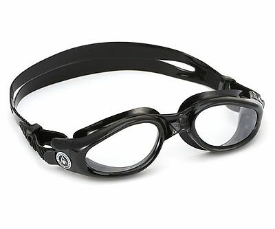 Aqua Sphere Kaiman Swimming Goggles - Clear Lens - Black (171010)