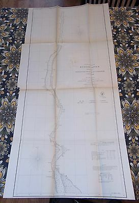 ANTIQUE Map 1861 HUDSON RIVER New York CIVIL WAR ERA