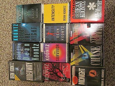 Lot of 12 Dean Koontz audio books on tape