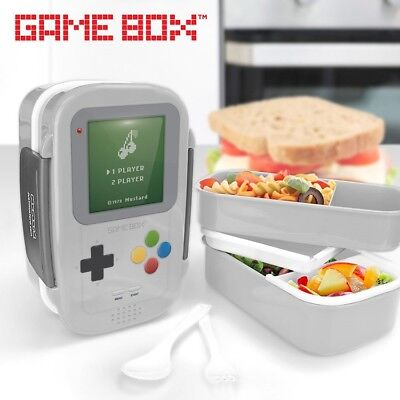 Retro Gameboy Lunch Box, Bento Box, Console shaped,Kids will love to eat lunch