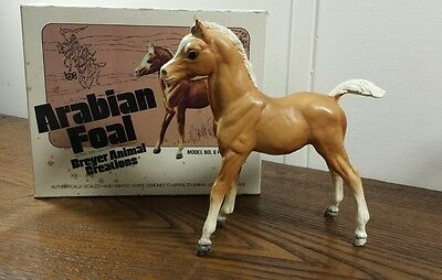 Vintage 70's Breyer Horse #6 Palomino Family  Arabian Foal With Box FAF Chalky A