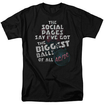 ACDC AC DC BIG BALLS Biggest Balls of All Licensed Adult T-Shirt All Sizes