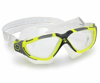 Aqua Sphere Vista Swimming Goggles - Swim Mask - Clear Lens - Yellow (172690)