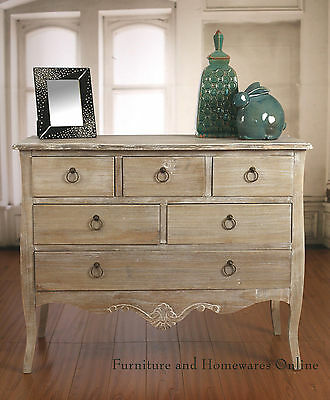 Chest of Drawers French Provincial Antiqued Style French Dresser BRAND NEW