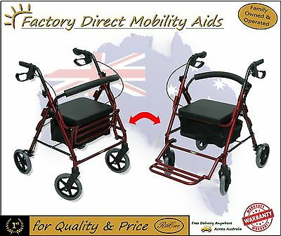 "Rollator / Mobility Transit Walker with 8"" Wheels Walking frame New Free Freight"