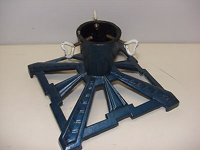 Vintage MID Century Modern Art Deco Cast Iron Christmas Tree Stand Hearts DEP