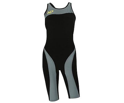 MP Michael Phelps  Xpresso Tech Swimsuit - Racing Swimwear - Womens - Black Grey