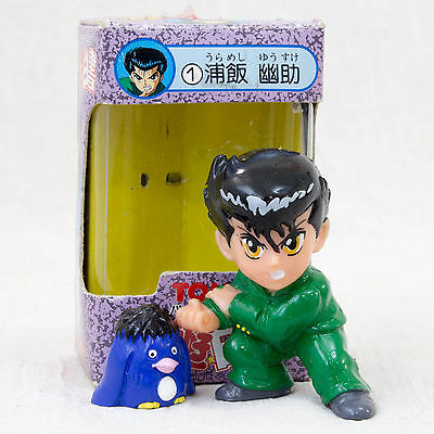 Yu-Yu Hakusho Yusuke Urameshi + Pu Super Collection Figure Tomy JAPAN ANIME
