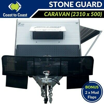 Caravan Stone Guard Shield Protection for Off Road RV Mesh & Mud Flaps Removable