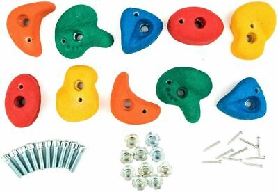Set of 5 10 15  Resin Bolt On Climbing Frame Rock Wall Grab Holds Grip Stones 80