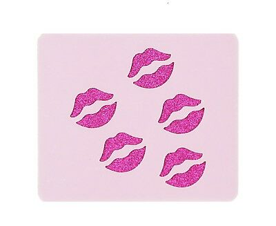 Small Lips Face Painting Stencil Reusable Washable Mylar 190 Micron  7cm x 6cm