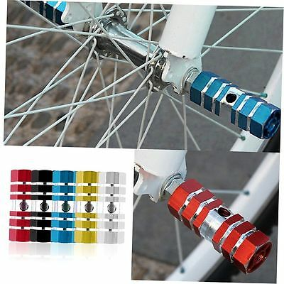 1 Pair Aluminum Alloy Pegs Bike Cycling Bicycle Rear Stunt Foot Peg Six Axle BJ