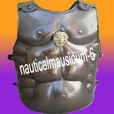 Greek Muscle Body Armor Cuirass Heavy Guage antic copper Medieval Roman