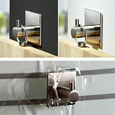 Stainless Steel Wall Sticky Holder Strong Adhesive Towel Hook Coat Key Hanger