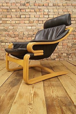 60s Retro EASY CHAIR DANISH LEATHER LOUNGE SKIPPERS DENMARK ARMCHAIR Vintage