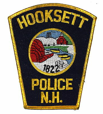 HOOKSETT NEW HAMPSHIRE NH Police Patch IGLOO CANOE OIL WELL ~