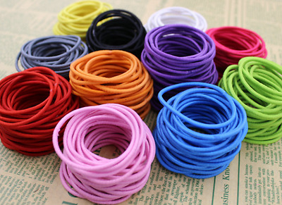 25 x Asst Colour Strong Snagless Rubber Hair Ties Elastics Bands - FREE POST