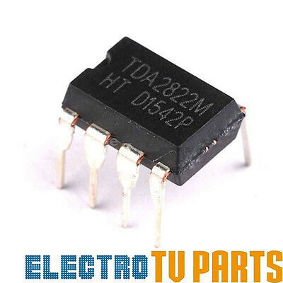 WX TDA2822M TDA2822 IC 1W Low Voltage Dual Audio Power Amplifier DIP-8 FROM UK