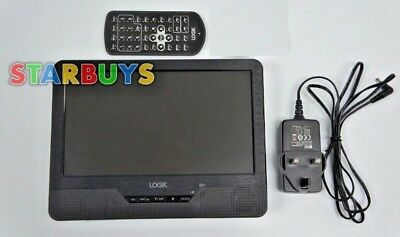 """9"""" Inch Single Screen Portable DVD Player 12V 240 Volt Rechargeable with remote"""