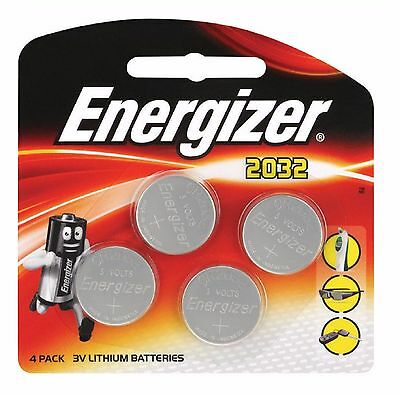 4 x Energizer CR2032 3V Lithium Coin Cell Battery 2032 Brand NEW