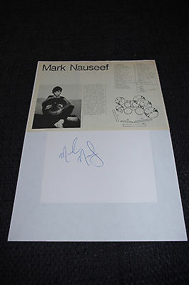 PERCUSSION Mark Nauseef signed Autogramm auf 10x15 cm Karteikarte InPerson LOOK