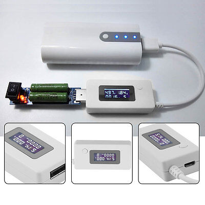 USB Voltage and Current Monitor Tester Detector Mobile Power Capacity Tester GT