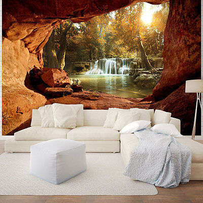 fototapete tapete poster foto tapete wandbild wasserfall landschaft 3fx2060p4 eur 28 90. Black Bedroom Furniture Sets. Home Design Ideas