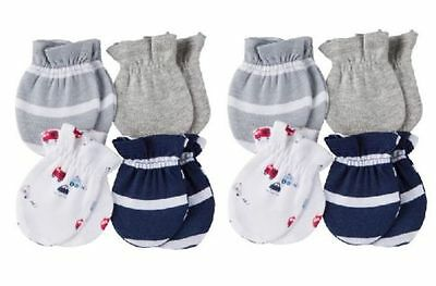 8 Pack Gerber Baby Boy Set of Mittens Gloves Shower Gift Fire Truck