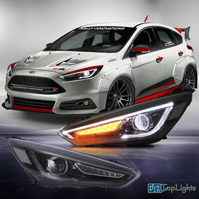 Hid Headlights For 2017 2016 Ford Focus Led Front Lamp Sequential Indicator