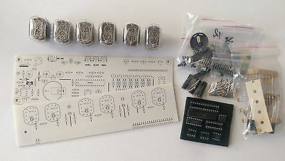 Nixie Tube clock KIT IN-12 Six Digit Tubes Date Temperature White