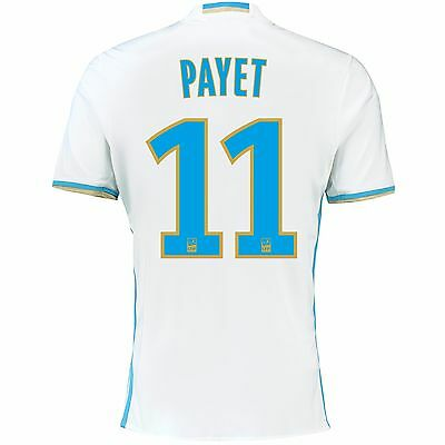 Adult XL Olympique de Marseille Home Shirt 16/17 Payet 11 + Ligue 1 Badge MA2