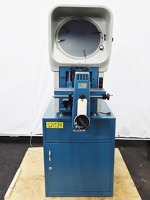 """DELTRONIC 14"""" Optical Comparator 10x 20x Lens 5"""" x 15"""" Stage Model DH14-DEC"""