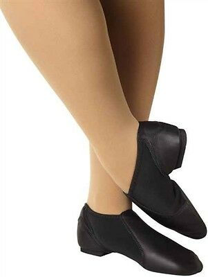 Leather Gioflex Slip On Jazz Boot Fits 8.5 Leo/'s 7018 Black Adult Size 11.5M