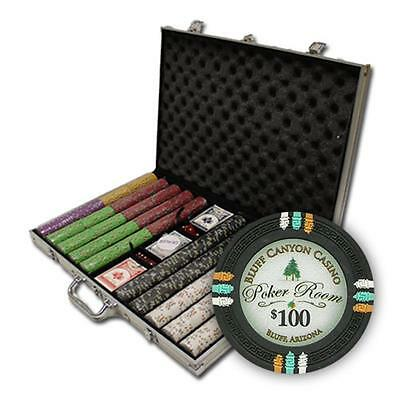 """1000Ct Claysmith Gaming """"Bluff Canyon"""" Chip Set in Aluminum"""