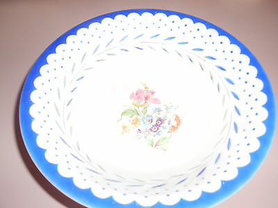 Vintage Serving Bowl By Homer Laughlin Virginia Rose H50N8 White & Blue