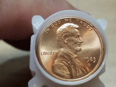 1983 D Obw Lincoln Memorial Cent Penny Roll Bu