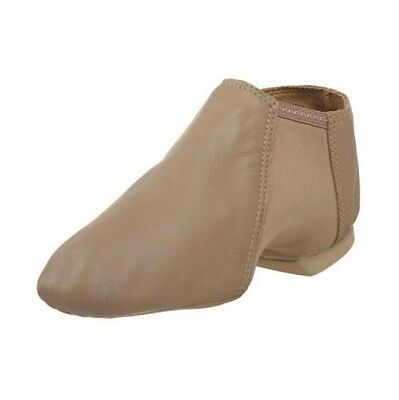 Leo's 7026 Suntan Adult 8.5M (fits size 5.5) Leather Gioflex Slip On Jazz Boot