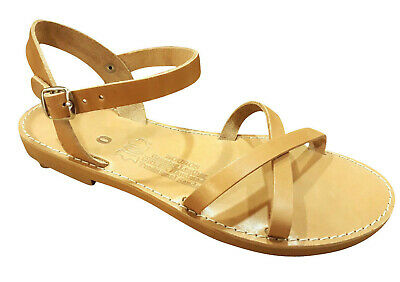 Ancient Greek Womens Sandals Roman Leather Handmade Shoes Gladiator Spartan Size