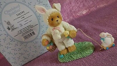 Cherished Teddies - Trudy - Easter Bunny Pulling Toy Figurine - Excl. - 726737