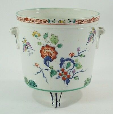 Porcelain Footed Planter Asian Bowl Round Handled 3 Foot Orchid Plant Container