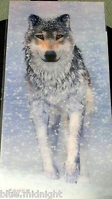 Grey Wolf In The Snow 3 Dimensional Effect Wall Hanging Brand New Sealed