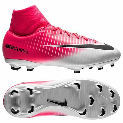 Nike Mercurial Victory VI TF Turf 2017 Soccer Shoes White Pink Black Kids Youth