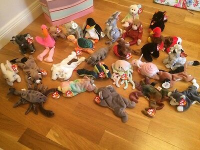 Massive beanie baby bundle good condition most with tags