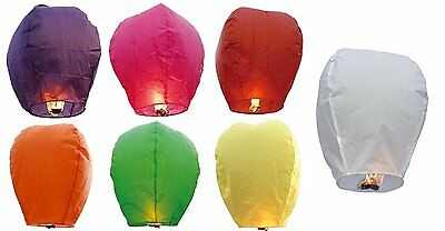 Chinese SKY LANTERNS 10 Pack Multi color Assorted Colors lanterns