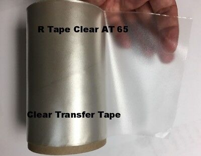"1 Roll 12"" x 50 Feet  Application Transfer Tape Vinyl Signs R TAPE  Clear at 65"