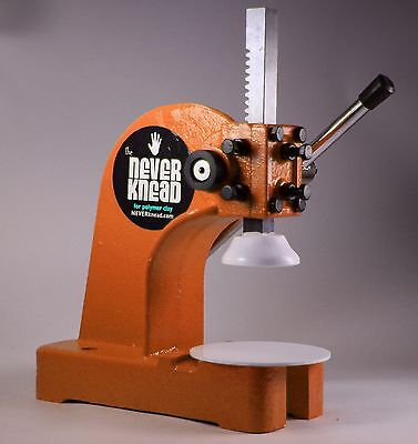 ORANGE NEW POLYMER CLAY KNEADER MACHINE - EASY FAST NEVERknead PREMO Pavelka