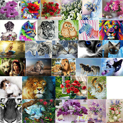 5D DIY Diamond Painting Flower Animal Embroidery Cross Crafts Stitch Home Decor