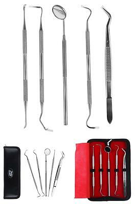 Professional Dental Oral Hygiene Kit 5 Tools Deep Cleaning Scaler Teeth care
