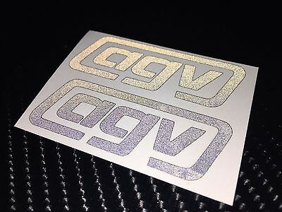 2x AGV logo BLACK REFLECTIVE SAFETY Motorcycle Helmet Sticker Hi Viz TT