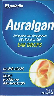 PALADIN Auralgan Ear Drops Relief of Ear Aches Pain Inflammation from CANADA